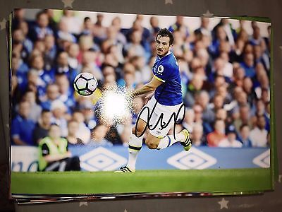 Leighton Baines Everton Fc Toffees Hand Signed 12X8 Photo New Stock