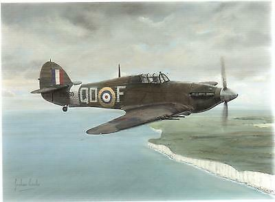 """relief"" Hurricane Aircraft--Greetings Print Card--Graham Cooke"