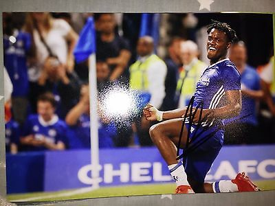 Michy Batshuayi Chelsea Fc Blues Hand Signed 12X8 Photo New Stock