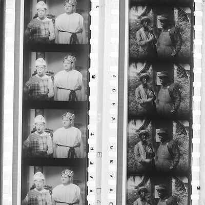 RARE - 35mm Film Cell strips x 2  - Laurel & Hardy #4