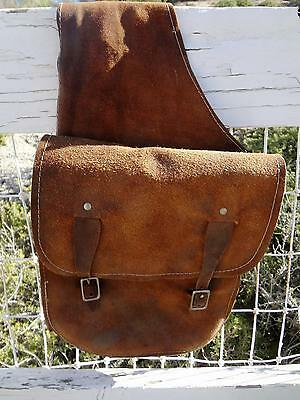 Vintage Western Leather Saddle Bags. Nice And Sound.