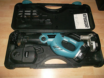 Erbauer 18V Li-Ion Cordless Reciprocating Saw 2 batteries charger case