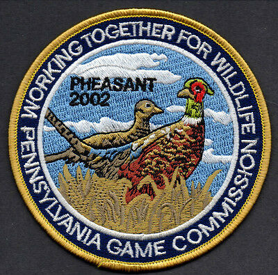 Pa Penna Pennsylvania Game Commission NEW WTFW 2002 Ring-necked Pheasant patch