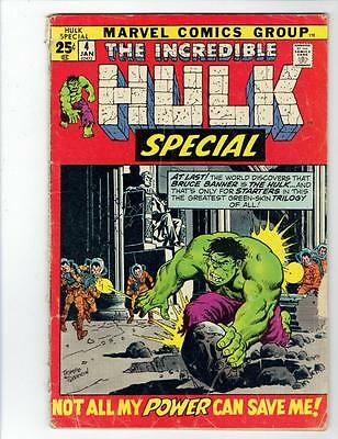 Incredible Hulk Special #4 (Marvel Jan 1972) BRONZE AGE  GD