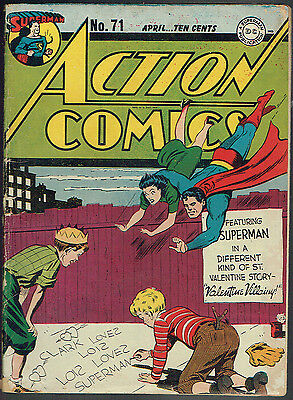 ACTION COMICS 71  GD+/2.5  -  Early Lois Lane cover!
