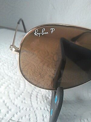 Ray-Bans Aviators Large Metal 58Mm Brown Lens And Gold Frames Model Rb3025