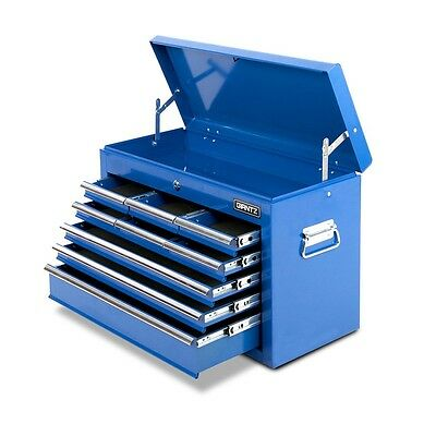 New Lockable Heavy Duty 9 Multi-Size Drawers Garage TOOL BOX Toolbox Chest Blue