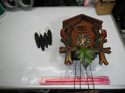"Antique ""BLACK FOREST""Germany - 1 BIRD, 1 MAN - Cuckoo Clock For PARTS OR REPAIR"
