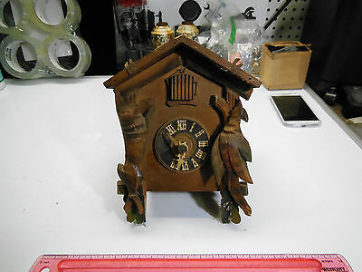 "Antique ""BLACK FOREST""  Germany - 1 BIRD - Cuckoo Clock For PARTS OR REPAIR"