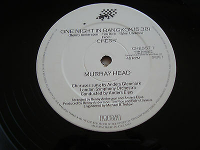 "Murray Head 'one Night In Bangkok/merano'-Lso.+Ambrosian Singers- Ep12"" '84/mint"