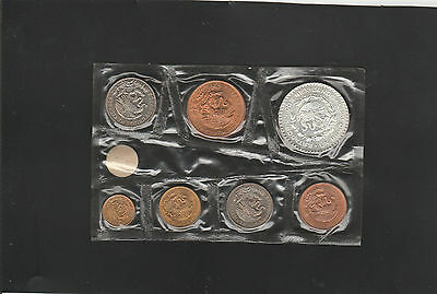 mexico 1966 mint set silver peso