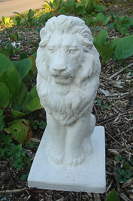 """Latex Mould Mold + Fibreglass Casing Posing Lion On A Plinth   Height 12"""""""