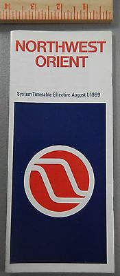 1969 Northwest Orient Airlines System Timetable