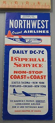 1957 Northwest Orient Airlines Timetable