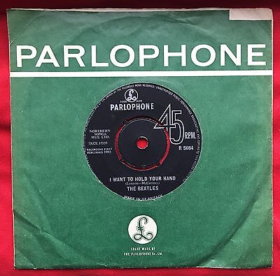 Beatles I Want To Hold Your Hand Original Press Instruments Parlophone Sleeve