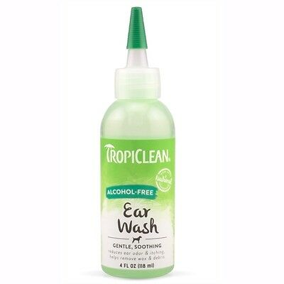 Ear Wash ~ Dogs & Cats ~ Alcohol Free ~ Removes Dirt, Wax & Debris ~ Tropiclean