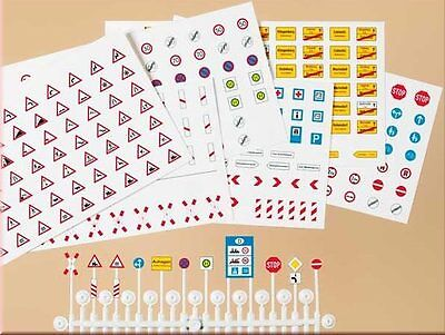 ROAD SIGNS - HO SCALE KIT by AUHAGEN # 42601 -for model train, faller car system
