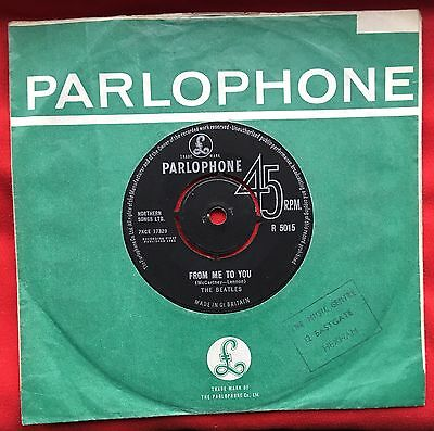 Beatles From Me To You Original 1st Press Excellent Parlophone Sleeve