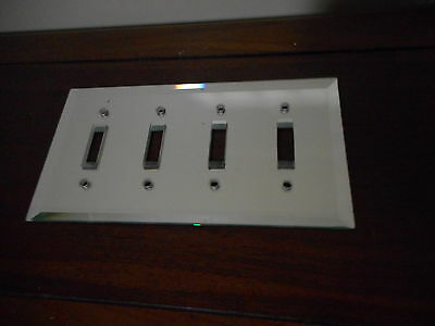 4 Switch Plate Single Toggle ANTIQUE Mirror Original  1 of pair