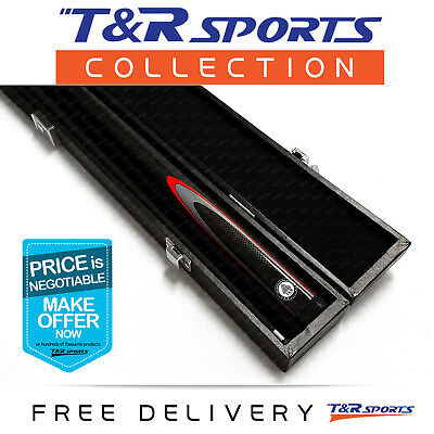 Black Full Length 2-Piece Pool Snooker Billiard Graphite Cue With Black Case AU