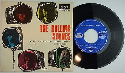 """THE ROLLING STONES You Can't Catch Me +3 Spanish 1965 RARE EP 7"""" DECCA VG+/VG+"""