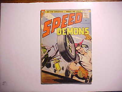 1957 SPEED DEMONS #5 HOT ROD RACING COMIC BOOK 32 pages 5 all color stories VG+