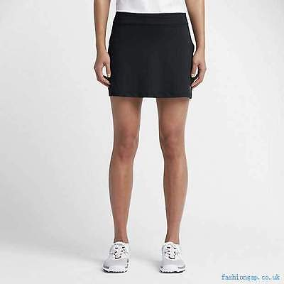 Nike Ladies Black Dri Fit Long Fairway Golf Skirt with detachable udr shorts Med