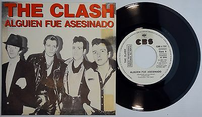 THE CLASH – SOMEBODY GOT MURDERED Spain 45 Spain PROMO  – N.MINT *  ULTRA RARE