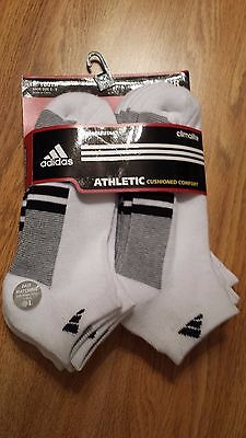 adidas Boys Youth Graphic Large Low Cut Sock, Pack of 6, White/Black/Aluminum