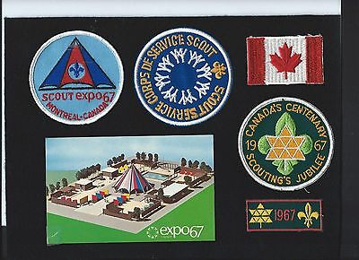 World's Fair 1967 Canada Boy Scout collection patches post card BSA