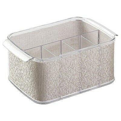 InterDesign Twillo Silverware, Flatware Caddy Organizer for Kitchen Countertop