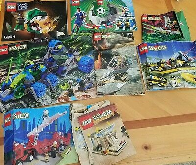 Lot of 8 Lego Instruction Manual Booklets Only