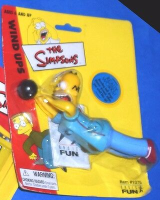 The Simpsons WIND UP Toy HOMER BOWLING Pin Pals