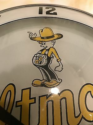BILTMORE dairy products double bubble advertising clock rare sign soda