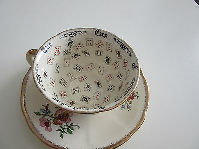 Vintage Alfred Meakin Cup Of Knowledge Tarot Reading Cup And Saucer