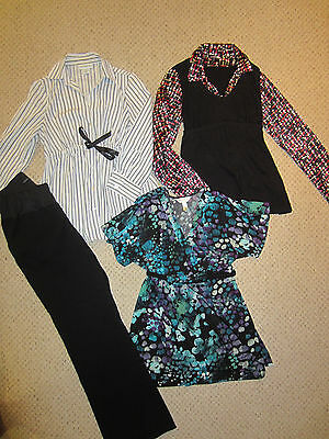 LOT 4 Motherhood GAP Maternity fall career dressy pants top outfit Small 4/6