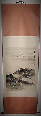 Vintage Chinese Wall Hanging Scroll Ink Painting Signed 21x66