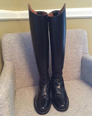 La Mundial Black Custom Tall Show Boots for very thin Legs /Ankles Size 7.5 $690