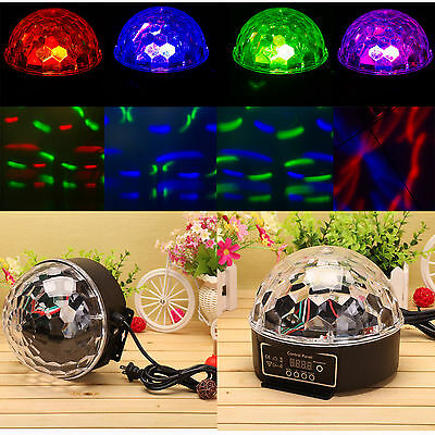 20W RGB Crystal Ball Stage Light Magic Laser Effect Lights Disco DJ Party Club