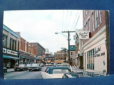 Postcard RI Westerly Vintage View of High Street Industrial National Bank