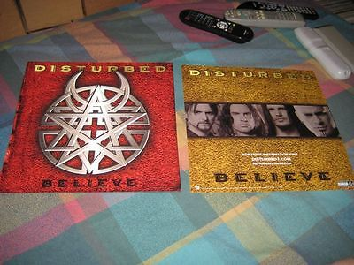 DISTURBED-(believe)-1 POSTER-2 SIDED-12X12-MINT-RARE