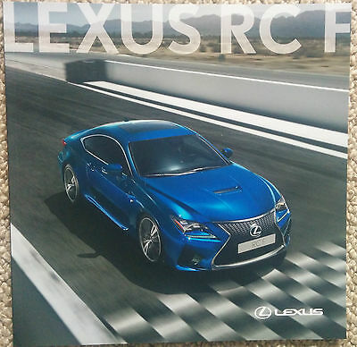 New Lexus RC F Brochure 42 Pages Stunning - Mint Condition