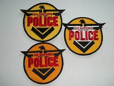 3 Different Six Nations Band Police Native Patches (Ontario, Canada)
