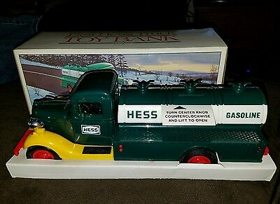 HESS TRUCK ~ The First Hess Truck Toy Bank Estate Fresh Mint in Box Never Used