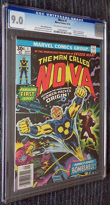 Nova #1 CGC 9.0 White pages  - Origin and First Appearance!!