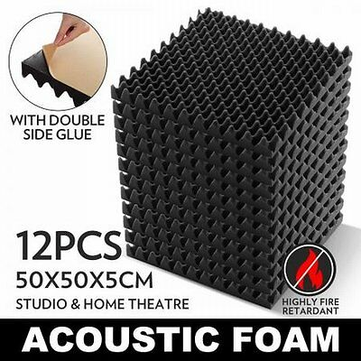 NEW 12x Eggshell Shaped Sound Stop Absorbing Treatment Acoustic Foam - Charcoal
