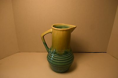 Vintage Green and Yellow Decanter