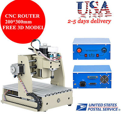3 Axis CNC Router Engraver Milling Drilling Engraving Machine 3020T High Quality