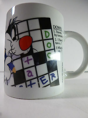 1997 Warner Brothers Sylvester The Cat Crossword Puzzle coffee tea cup