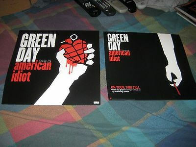 GREEN DAY-(american idiot)-1 POSTER-2 SIDED-12X12-MINT-RARE